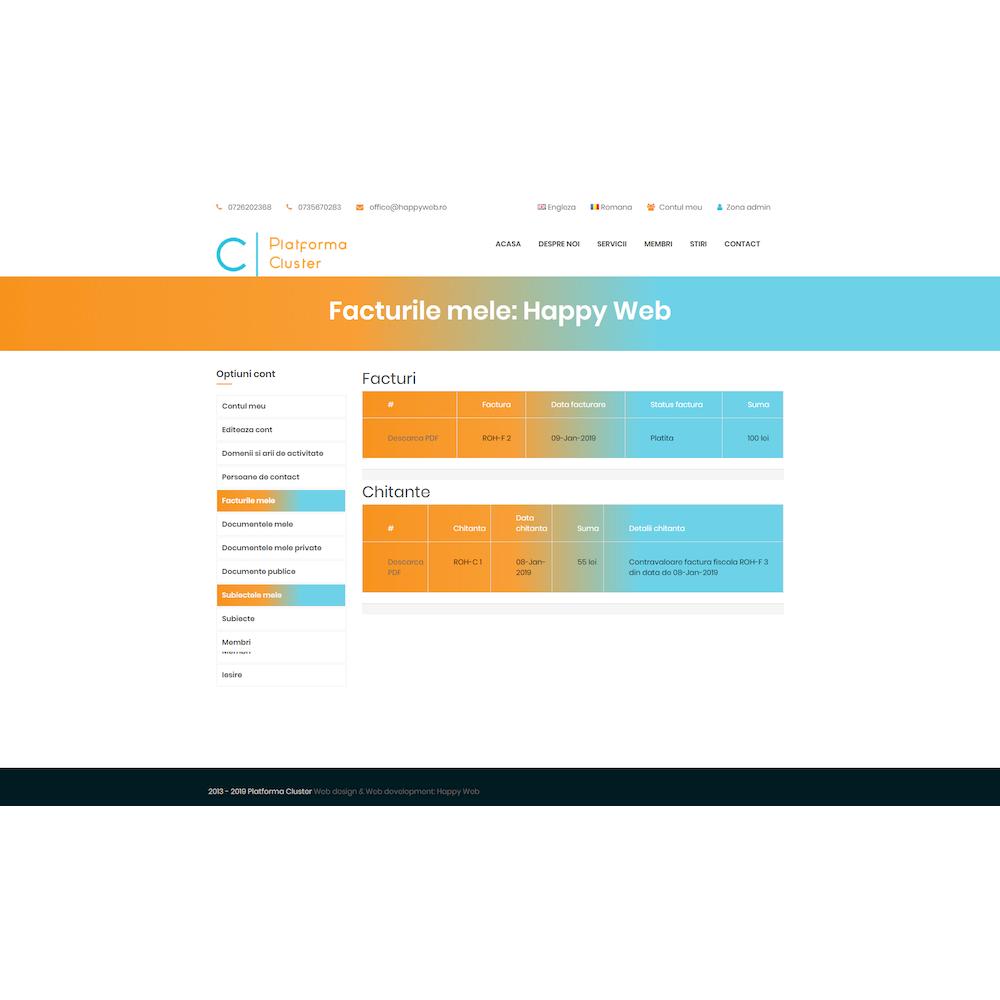 Demo platforma cluster